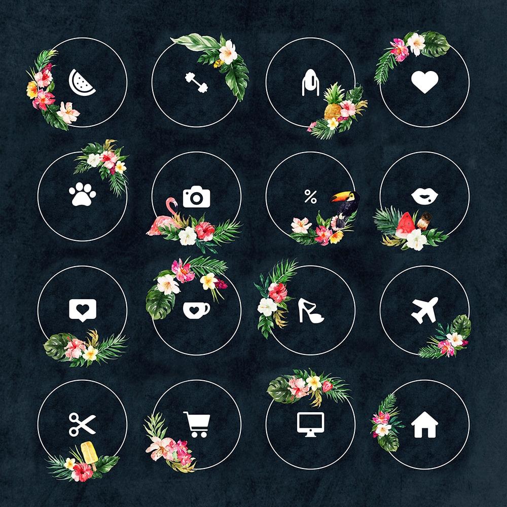 Яркие красивые шаблон для актуальных историй Инстаграма